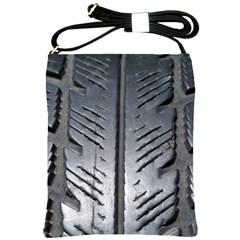 Mature Black Auto Altreifen Rubber Pattern Texture Car Shoulder Sling Bags