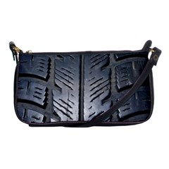 Mature Black Auto Altreifen Rubber Pattern Texture Car Shoulder Clutch Bags