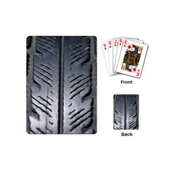 Mature Black Auto Altreifen Rubber Pattern Texture Car Playing Cards (mini)