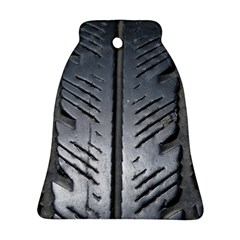 Mature Black Auto Altreifen Rubber Pattern Texture Car Ornament (bell)