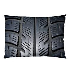 Mature Black Auto Altreifen Rubber Pattern Texture Car Pillow Case (two Sides)