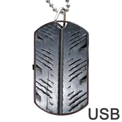 Mature Black Auto Altreifen Rubber Pattern Texture Car Dog Tag Usb Flash (one Side)