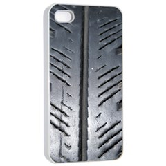 Mature Black Auto Altreifen Rubber Pattern Texture Car Apple Iphone 4/4s Seamless Case (white)