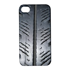 Mature Black Auto Altreifen Rubber Pattern Texture Car Apple Iphone 4/4s Hardshell Case With Stand