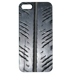 Mature Black Auto Altreifen Rubber Pattern Texture Car Apple Iphone 5 Hardshell Case With Stand