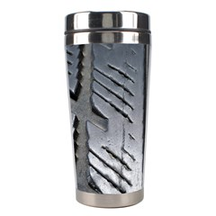Mature Black Auto Altreifen Rubber Pattern Texture Car Stainless Steel Travel Tumblers