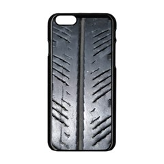 Mature Black Auto Altreifen Rubber Pattern Texture Car Apple Iphone 6/6s Black Enamel Case