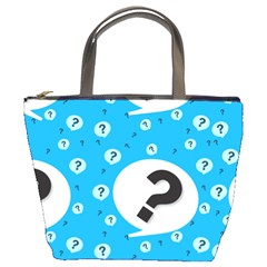 Blue Question Mark Bucket Bags