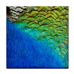 Blue Peacock Feathers Face Towel