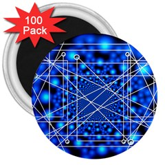 Network Connection Structure Knot 3  Magnets (100 Pack)
