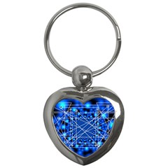 Network Connection Structure Knot Key Chains (heart)