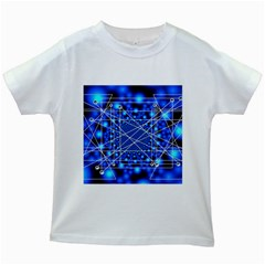 Network Connection Structure Knot Kids White T-Shirts
