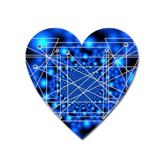 Network Connection Structure Knot Heart Magnet