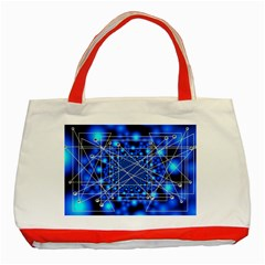 Network Connection Structure Knot Classic Tote Bag (red)