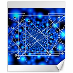 Network Connection Structure Knot Canvas 16  X 20