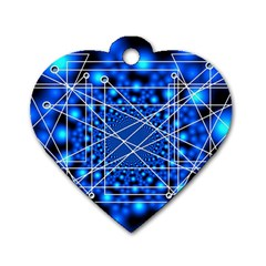 Network Connection Structure Knot Dog Tag Heart (two Sides)