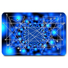 Network Connection Structure Knot Large Doormat