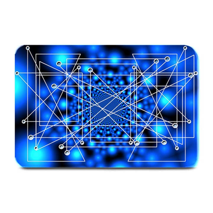 Network Connection Structure Knot Plate Mats
