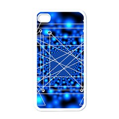 Network Connection Structure Knot Apple Iphone 4 Case (white)