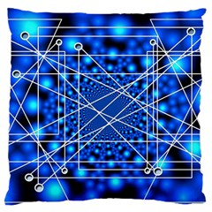 Network Connection Structure Knot Large Cushion Case (two Sides)