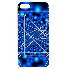 Network Connection Structure Knot Apple Iphone 5 Hardshell Case With Stand
