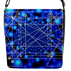 Network Connection Structure Knot Flap Messenger Bag (s)
