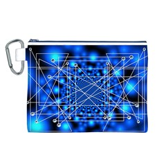 Network Connection Structure Knot Canvas Cosmetic Bag (l)