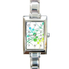 Network Connection Structure Knot Rectangle Italian Charm Watch