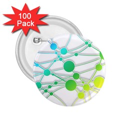 Network Connection Structure Knot 2 25  Buttons (100 Pack)