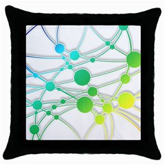 Network Connection Structure Knot Throw Pillow Case (black)