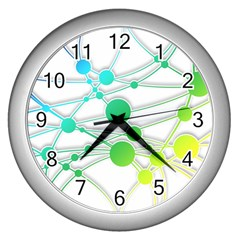 Network Connection Structure Knot Wall Clocks (silver)