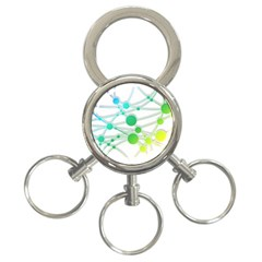 Network Connection Structure Knot 3 Ring Key Chains