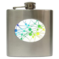Network Connection Structure Knot Hip Flask (6 Oz)