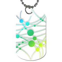 Network Connection Structure Knot Dog Tag (two Sides)