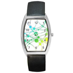 Network Connection Structure Knot Barrel Style Metal Watch