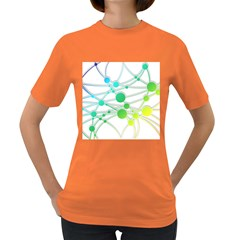 Network Connection Structure Knot Women s Dark T Shirt