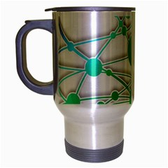Network Connection Structure Knot Travel Mug (silver Gray)