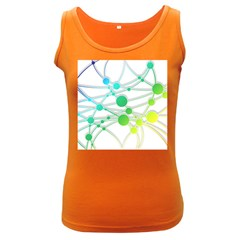 Network Connection Structure Knot Women s Dark Tank Top