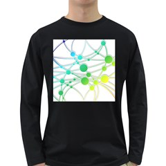 Network Connection Structure Knot Long Sleeve Dark T Shirts