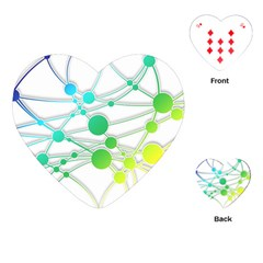 Network Connection Structure Knot Playing Cards (heart)