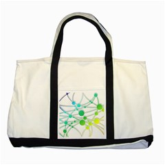 Network Connection Structure Knot Two Tone Tote Bag