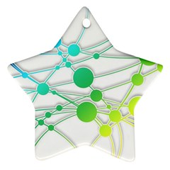 Network Connection Structure Knot Star Ornament (two Sides)