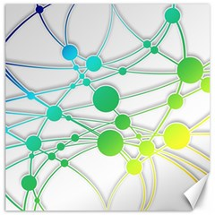 Network Connection Structure Knot Canvas 16  X 16
