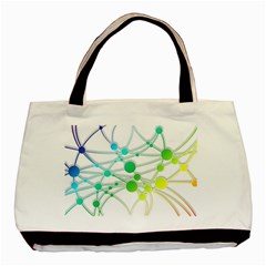 Network Connection Structure Knot Basic Tote Bag (two Sides)