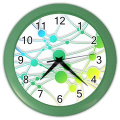 Network Connection Structure Knot Color Wall Clocks