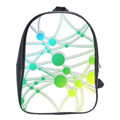 Network Connection Structure Knot School Bags(large)