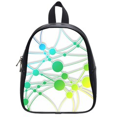 Network Connection Structure Knot School Bags (small)