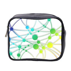 Network Connection Structure Knot Mini Toiletries Bag 2 Side
