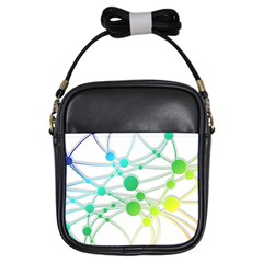 Network Connection Structure Knot Girls Sling Bags