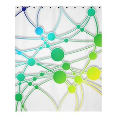 Network Connection Structure Knot Shower Curtain 60  X 72  (medium)